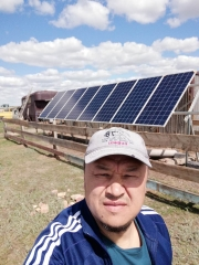 Off grid solar system in Kazakhstan